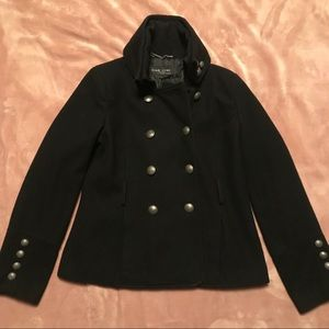 Black Rivet military style double breasted wool🌪